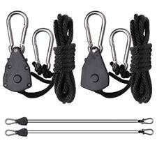 "Genuine High Quality 1/8"" Rope Ratchet YOYO Hanger LED Grow Light 4 Pair 8pcs"