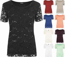 Lace Scoop Neck Other Stretch Tops & Shirts for Women