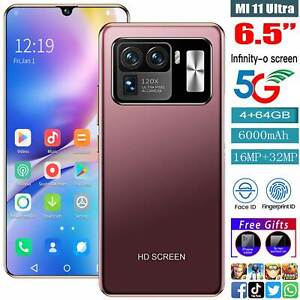 "MI 11 Ultra 6.5"" Face ID Smart phone Android10 4+64GB 6000mah Good Gift"