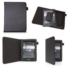 August® Genuine Leather Black Case Cover + Stylus for Amazon Kindle Paperwhite