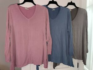 GUC Womens Lot of 3 Style & Co Long Sleeve T Shirts 2x