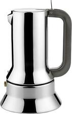 Alessi 6-Cup Espresso Coffee Maker in 18/10 Stainless Steel Mirror Polished...