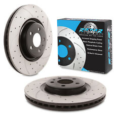 FRONT DRILLED GROOVED 345mm BRAKE DISCS FOR AUDI A4 B8 B9 A5 S6 A7 Q5 TFSI V6 TD