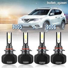 9006 9005 LED Headlight Kit for 1999-2005 GMC Sierra 1500 2500 Hi/Low Beam 6000K