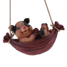 Swing Animal Decoration Craft Hanging Home Garden Statue Figurine Pig#2