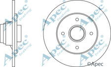 REAR BRAKE DISCS (PAIR) FOR RENAULT 19 GENUINE APEC DSK250