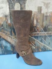 Boots Womens Tall Brown Leather Circa Joan & David 7.5 M