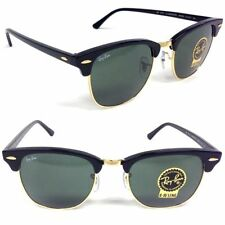 clubmaster classic green classic g 15  Ray Ban Authentic Rb3016 51mm Black \u0026 Gold Frame Classic Green 15 ...