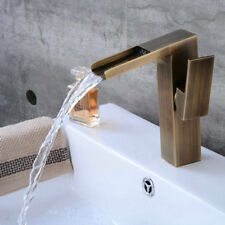 Basin Sink Faucet Mixer Bathroom Waterfall Spout Hot Cold Bath Tap Single Handle