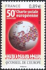 France (Council of Europe) 2011 Social Charter 50th Anniversary/Flags  1v n45861