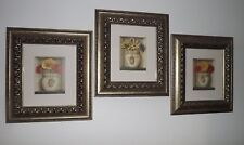 PROFESSIONALLY FRAMED LISA AUDIT FLORAL LOT OF 3 GREAT PRINTS $200 SHIPPED