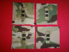 2 Pairs Of OCP Camo Patches WARRANT OFFICER 2 WO2 Collar Devices Never Worn