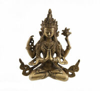 Soprammobile Tibetano Chenresig Bodhisattva Avalokiteshvara 18 CM 1kg300 4452 X6