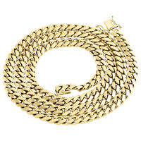 10K Yellow Gold Solid Miami Cuban Link Chain 6.50mm Box Clasp Necklace 20-30 In.