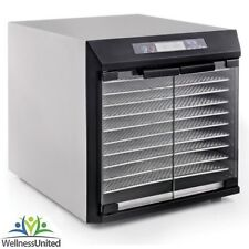New Excalibur Stainless Steel 10 Tray Dehydrator 99Hr Timer Glass Doors  +GIFT+