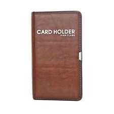 Fashion Brown 120Cards Book Business Name ID Credit Card Holder Keeper Organizer