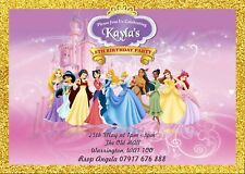 PERSONALISED PRINCESS BIRTHDAY PARTY INVITATIONS  KIDS GIRLS INVITES ENVELOPES