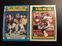 1987-1988 Topps #24 #18 MARK BAVARO 1,000 Yard Club New York Giants Lot 2 Nice !