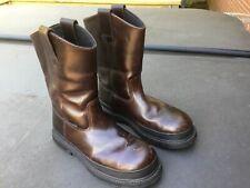 Ace Unisex Work Boots Men 10 Women 11.5 Brown Leather Waterproof, Steel Toe