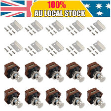 10x Push Button Drawer Cupboard Door Catch Lock Caravan Motorhome Latch Knob AU