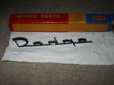 NOS deck lid nameplate emblem 56 Dodge Custom Royal Lancer D 500 Coronet