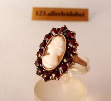alter Granat Gemme Ring 835 Silber Granat old garnet / BH 872