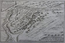 CARTE du combat de LEUZE, Seigneur de Fer, originale du XVIII ème