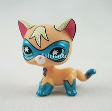 Littlest Pet Shop LPS Shorthair COMIC CON Cat kitty Super Hero Masked Toys