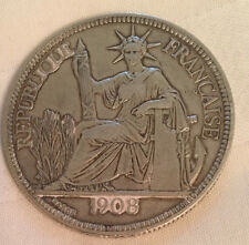 French Indo-China Silver Piastre 1908 - Titre 0.900, Poids / Weight: 27 Grams