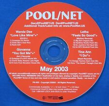 Pool Net May 2003 CD Promo 12 Mixes Tina Ann I Do Orange Factory CTGP Wanda Dee