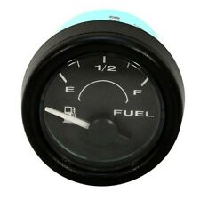 Faria Black Marine Boat Illuminated Fuel Gauge GP7256