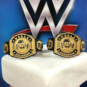 X2 2020 Custom CHROME Tag Team Titles Belt WWE Elite Figure Lot NJPW