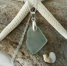Handmade in Hawaii Seafoam sea glass necklace Beach glass jewelry Birthday Gift