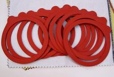12 Pack Canning Jar Rubber Replacement Ring with Tab Red Fits Most Glass Jar New