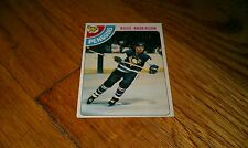 1978-79 RUSS ANDERSON Hockey Sports Trading Card Vintage old #156
