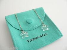 Tiffany & Co Peretti Silver Rock Crystal Star Dangle Earrings Studs Rare