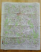 Vintage USSR Joint General Staff Soviet Army Military Topographic Map Restricted