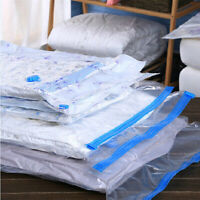 LARGE SPACE SAVING STORAGE VACUUM BAG CLOTHES BEDDING ORGANISER UNDER BAGS LOT