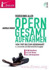 Répertoire aller operngesamtaufnahmen Andreas OMMER DVD Zeno Band 20