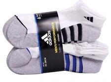 Adidas Mens Performance Low Cut Running Socks Shoe Size 6-12 6 Pair White