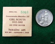 VINTAGE GIRL SCOUT 1962 50th ANNIVERSARY STERLING COMMERORATIVE MEDALLION