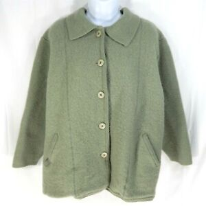 Linea by Louis Dell'Olio Cardigan 100% Wool Heavyweight Sage Green Women Size 3X