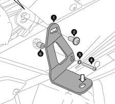 Staffe per applicazione faretti supplementari - BMW F 650 800 GS 08-11