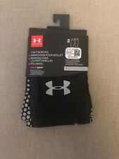 Under Armour Unisex Calf Sleeves Black Silver Style 1323398 Reflectivity Small