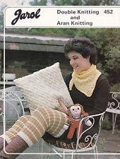 ARAN LATICE CUSHION COVER~LEG WARMERS~KNITTED DOLL~SCARF~ KNITTING PATTERN (B7)
