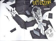 2013 DETECTIVE COMICS #20 BLANK VARIANT WITH JOKER ORIGINAL ART BY DENNIS CALERO