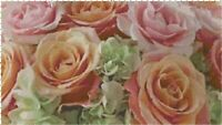 Peach and Pink Roses DIGITALCounted Cross Stitch Pattern Chart