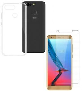 For ZTE BLADE V9 VITA CLEAR CASE + TEMPERED GLASS SCREEN PROTECTOR SHOCKPROOF