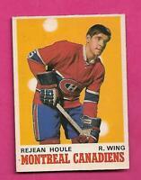 1970-71 OPC # 174 CANADIENS REJEAN HOULE ROOKIE EX-MT CARD (INV# D1656)