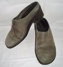 Solvei Dansko Gray Smooth Leather Clogs 37 6.5 7 Slip On Comfort Walking Shoes